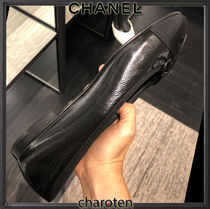 CHANEL TIMELESS CLASSICS Plain Toe Casual Style Blended Fabrics Plain Leather