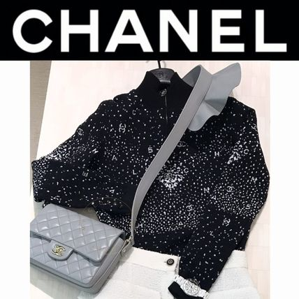 CHANEL ICON Casual Style Wool Nylon Blended Fabrics Street Style
