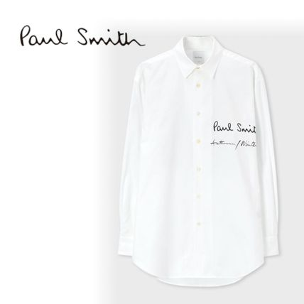 Paul Smith Shirts Button-down Blended Fabrics Street Style Long Sleeves Cotton