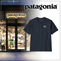 Patagonia Henry Neck Plain Short Sleeves Logo Outdoor Henley T-Shirts