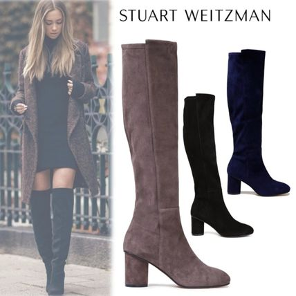 Suede Leather Office Style Elegant Style Boots Boots