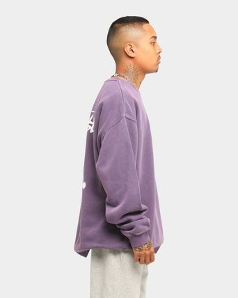 STUSSY Sweatshirts Crew Neck Unisex Long Sleeves Plain Cotton Logo Skater Style 18