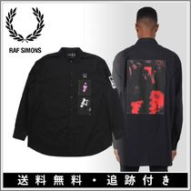 RAF SIMONS Pullovers Button-down Monogram Street Style Collaboration