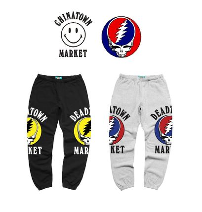 Unisex Sweat Street Style Collaboration Cotton Logo Pants