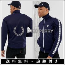 FRED PERRY Short Stripes Monogram Nylon Street Style Plain MA-1