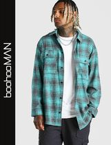 boohoo Other Plaid Patterns Street Style Long Sleeves Shirts