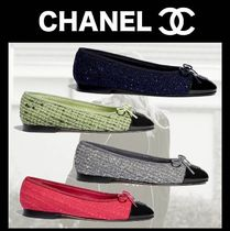 CHANEL Tweed Blended Fabrics Street Style Tie-dye Bi-color Plain