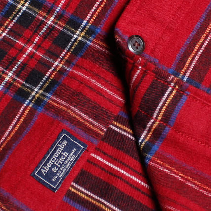 Tartan Long Sleeves Cotton Surf Style Shirts
