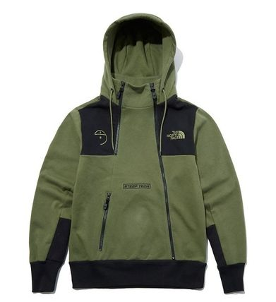 THE NORTH FACE Unisex Long Sleeves Plain Cotton Logo Outdoor Hoodies