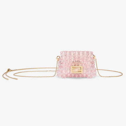 FENDI BAGUETTE Casual Style Chain Leather Party Style Elegant Style