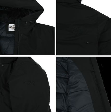 THE NORTH FACE Nylon Long Logo Down Jackets