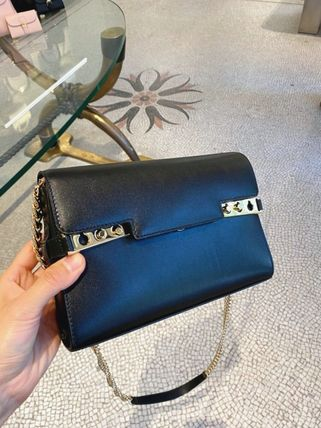 DELVAUX Casual Style Calfskin 2WAY Chain Plain Leather Party Style