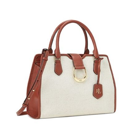 Casual Style Canvas 2WAY Plain Leather Office Style