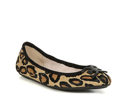 Logo Leopard Patterns Round Toe Casual Style Leather