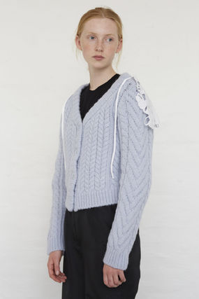CECILIE BAHNSEN Casual Style Wool Long Sleeves Office Style Elegant Style