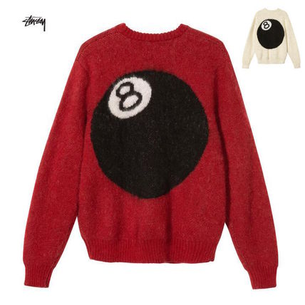 STUSSY Sweaters Unisex Street Style Long Sleeves Skater Style Sweaters
