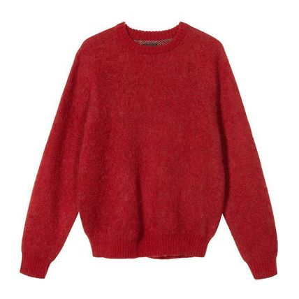 STUSSY Sweaters Unisex Street Style Long Sleeves Skater Style Sweaters 2
