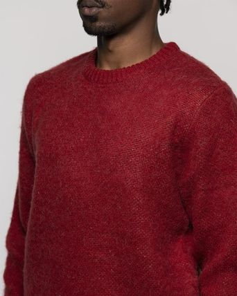 STUSSY Sweaters Unisex Street Style Long Sleeves Skater Style Sweaters 4