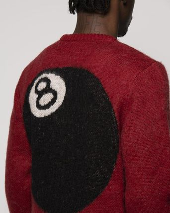 STUSSY Sweaters Unisex Street Style Long Sleeves Skater Style Sweaters 5
