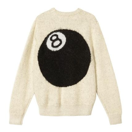 STUSSY Sweaters Unisex Street Style Long Sleeves Skater Style Sweaters 6