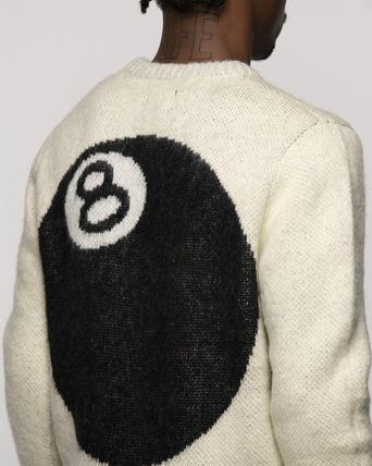 STUSSY Sweaters Unisex Street Style Long Sleeves Skater Style Sweaters 11