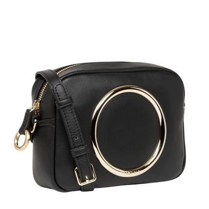 Casual Style 2WAY Plain Leather With Jewels Elegant Style