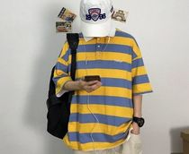 More T-Shirts Stripes Street Style Short Sleeves T-Shirts 10