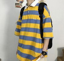 More T-Shirts Stripes Street Style Short Sleeves T-Shirts 11