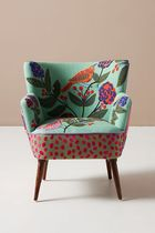 Anthropologie Wooden Furniture Table & Chair