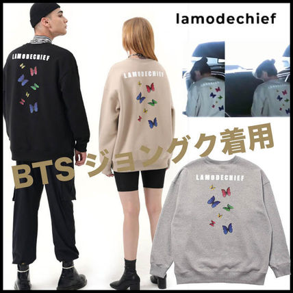 LAMODECHIEF Long Sleeve Unisex Street Style U-Neck Long Sleeves Cotton