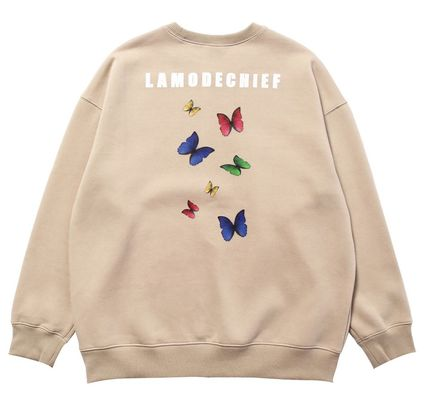 LAMODECHIEF Long Sleeve Unisex Street Style U-Neck Long Sleeves Cotton 5