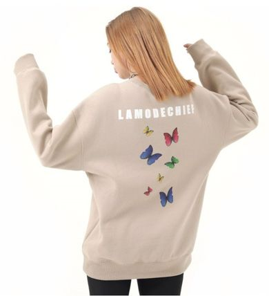 LAMODECHIEF Long Sleeve Unisex Street Style U-Neck Long Sleeves Cotton 11