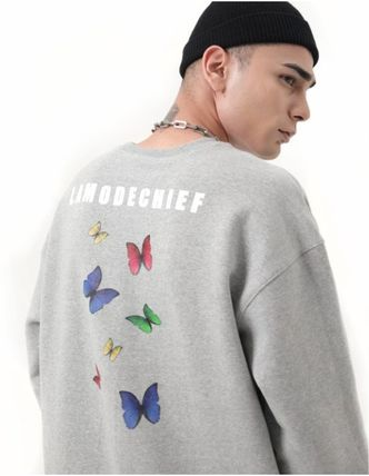LAMODECHIEF Long Sleeve Unisex Street Style U-Neck Long Sleeves Cotton 12