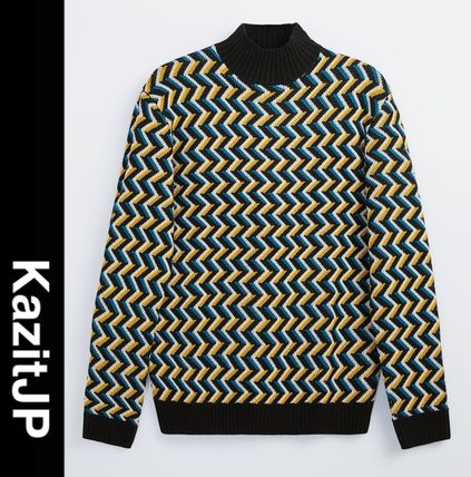 ZARA Wool Street Style Long Sleeves Sweaters