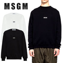 MSGM Crew Neck Pullovers Unisex Sweat Street Style Long Sleeves