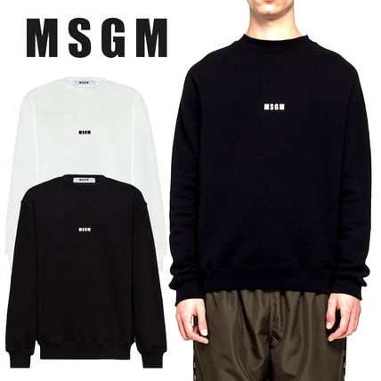 MSGM Sweatshirts Crew Neck Pullovers Unisex Sweat Street Style Long Sleeves