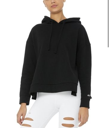 Street Style Long Sleeves Plain Hoodies & Sweatshirts
