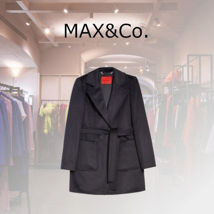 Max&Co. Short Casual Style Plain Office Style Elegant Style Peacoats