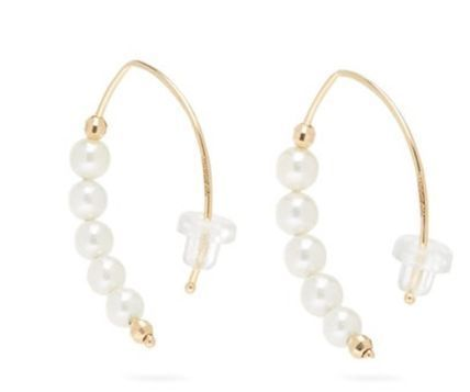 Formal Style  Party Style 14K Gold Elegant Style Earrings