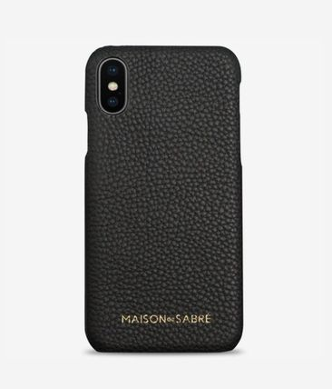 Plain Leather iPhone X iPhone XS Smart Phone Cases