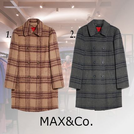 Max&Co. Other Plaid Patterns Casual Style Wool Blended Fabrics