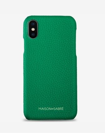 Plain Leather iPhone XS Max Smart Phone Cases