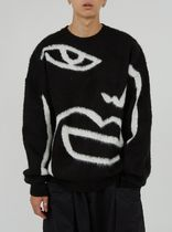Raucohouse Street Style Collaboration Long Sleeves Plain Sweaters