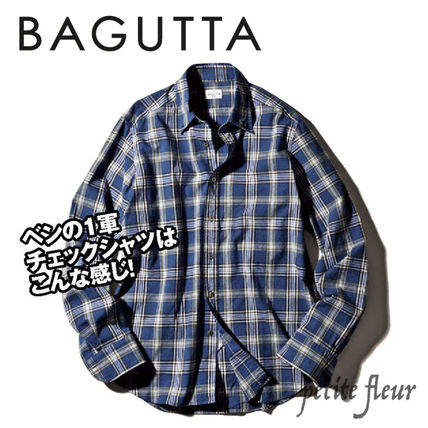 Other Plaid Patterns Long Sleeves Front Button Shirts