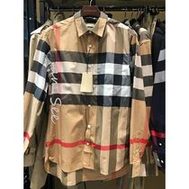 Burberry Tartan Street Style Long Sleeves Cotton Luxury Shirts