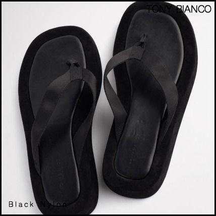 Tony Bianco Platform Round Toe Casual Style Plain Leather Elegant Style