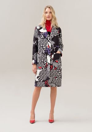 Casual Style Collaboration Long Front Button Coats