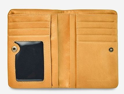 Folding Wallet Small Wallet Plain Leather Folding Wallets
