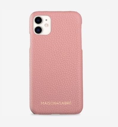 Plain Leather iPhone 11 Smart Phone Cases