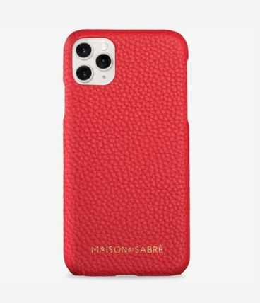 Plain Leather iPhone 11 Pro Max Smart Phone Cases